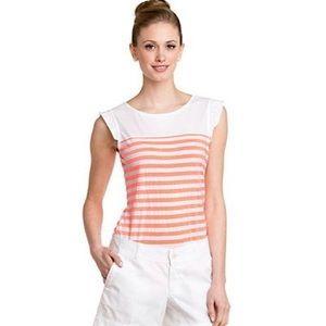 LILLY PULITZER Orange Striped Hattie Shirt NWT
